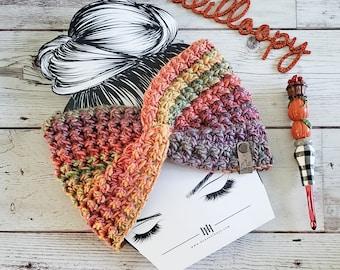 The Ravencraft Earwarmer Crochet Pattern - **Instant Download PDF** - Headwrap Pattern - Earwarmer Pattern - Headband Pattern
