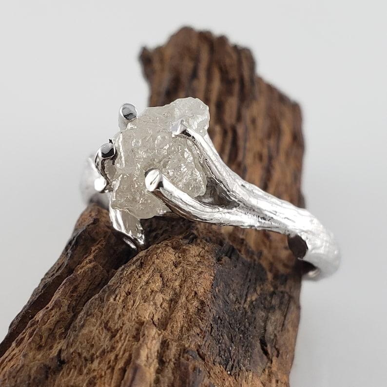 1.76 ct Raw Uncut Rough Diamond Twig Engagement Anniversary image 0