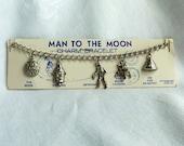 Vintage Man to the Moon Charm Bracelet - original packaging