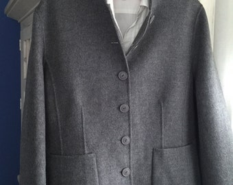 5ac948cbab6 Vintage Carole Little Brushed Wool Grey Jacket Size XL