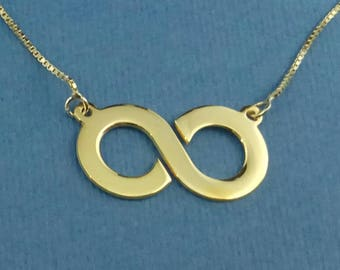 Infinity Sign Necklace Infinity Necklace Gold Infiniti Necklace Delicate Infinity Jewelry Special Gift For Her Birthday