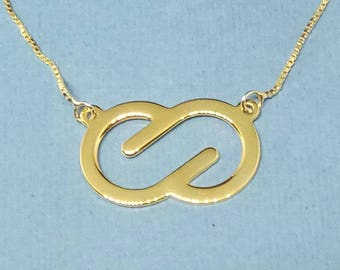Delicate Infinity Necklace Infinity Charm necklace Infinity Love Necklace Infinity Jewelry Design Infinity Shape Necklace