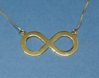 Gold Infinity Necklace Classic Infinity Necklace Infinity Jewelry 14k Gold Infinity Necklace Delicate Infinity Necklace