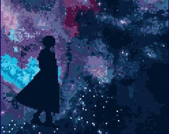 The Turn of the Universe cross stitch pattern