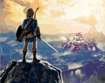 Legend of Zelda: Breath of the Wild cross stitch pattern