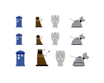 Doctor Who Mini Patterns