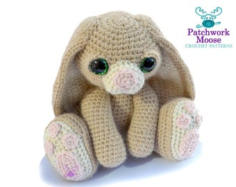 Bunny Rabbit Amigurumi Crochet Pattern PDF Instant Download - Benedict