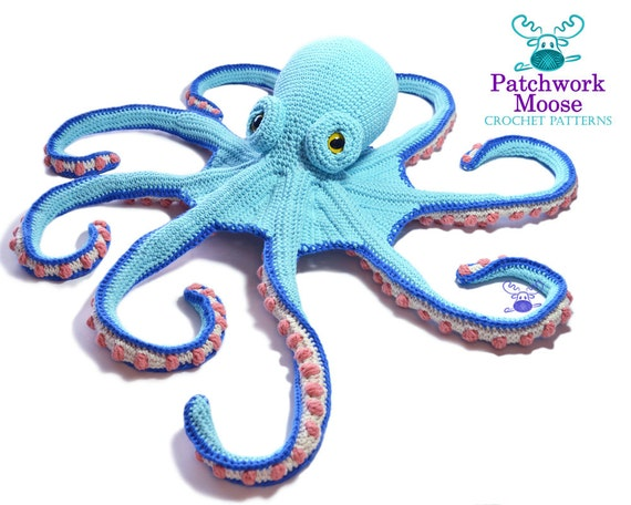 Octopus Crochet Pattern Pdf Instant Download Claude Etsy