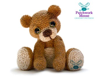 Teddy Bear Amigurumi Crochet Pattern PDF instant Download - Theo