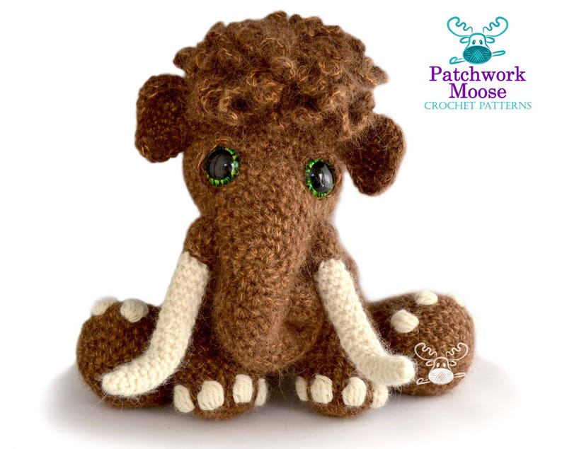 Woolly Mammoth Crochet Pattern PDF Instant Download  Mortimer image 0