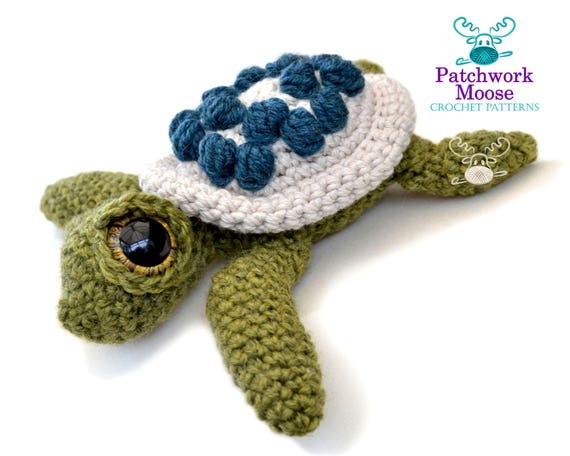 Amigurumi Sea Turtle Crochet Pattern PDF Instant Download