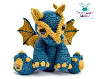 Dragon Amigurumi Crochet Pattern PDF Instant Download - Clancy