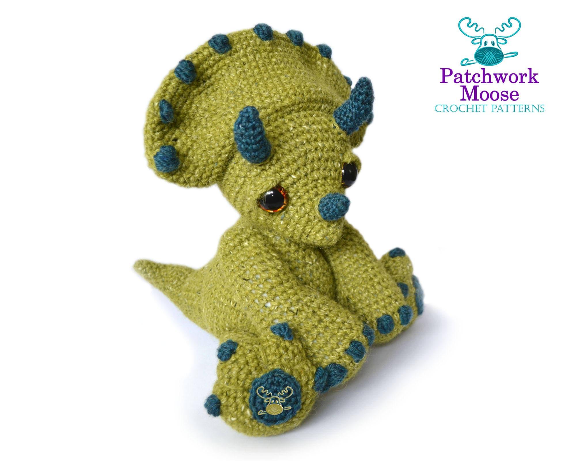 Dinosaurio Triceratops Amigurumi Crochet patrón instantánea   Etsy