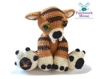 Sabre-tooth Tiger Amigurumi Crochet Pattern PDF Instant Download - Stanley