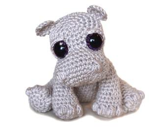 Hippo Amigurumi Crochet Pattern PDF Instant Download - Rosie