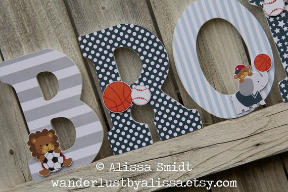 Future All Star Letters Custom Wooden Letters Sports Animal   Etsy
