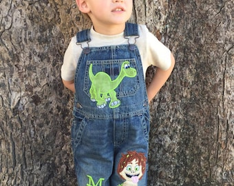28fd982e05b2 Good Dinosaur-Arlo   Spot-Birthday outfit-Birthday Overalls-Custom  Personalized