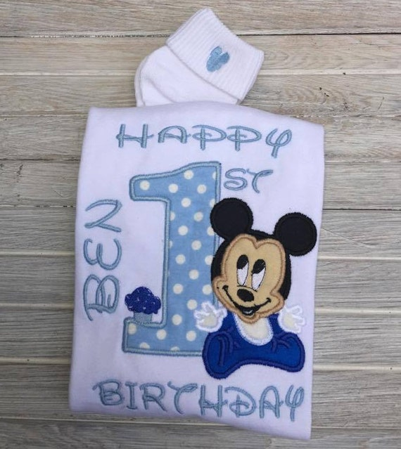 Terrific Baby Mickey Mouse 1St Birthday Outfit Baby Mickey First Etsy Funny Birthday Cards Online Elaedamsfinfo