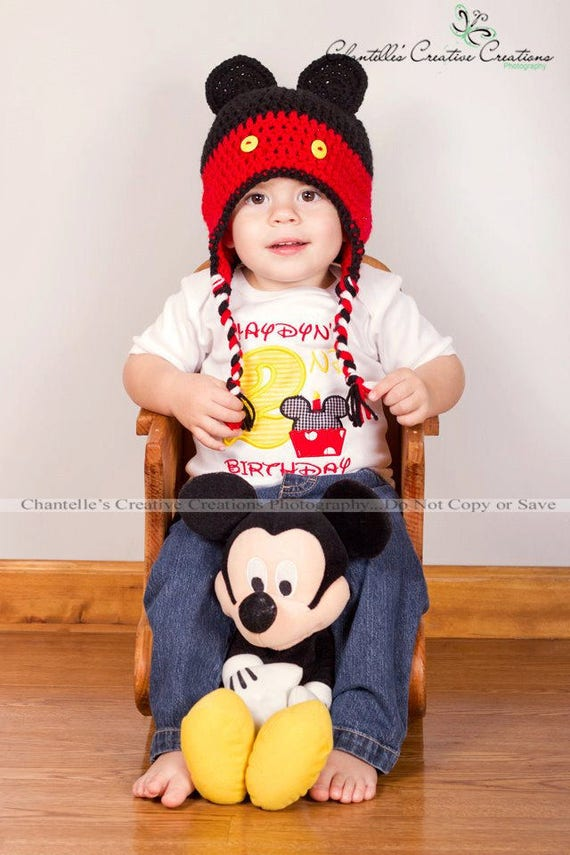 Mickey Mouse 2nd Second Birthday Shirt Monogrammed Boys