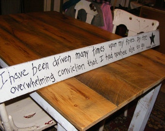 rustic hand painted wood sign