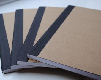Plain Brown Doodling Wide Ruled Composition Notebook Set of 4
