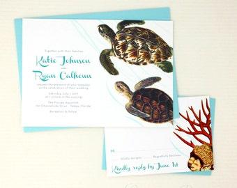 Sea Turtle Wedding Invitations for your Beach Wedding