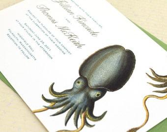 Cuttlefish Wedding Invitations for your Aquarium Wedding