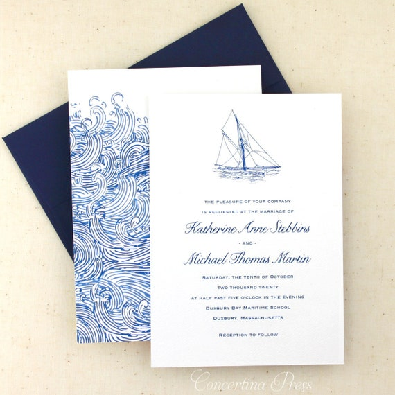 Nautical Wedding Invitations.Nautical Wedding Invitations Sailboat Wedding Invitation Set Sailing Invitation Custom Designed And Printed In The Usa