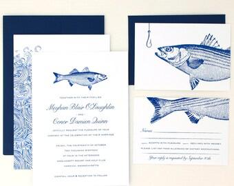 Fishing Wedding Invitation, Nautical Wedding Invitation, Fishing Wedding Invitations