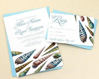 Seashell Wedding Invitations for your Boho Beach Wedding