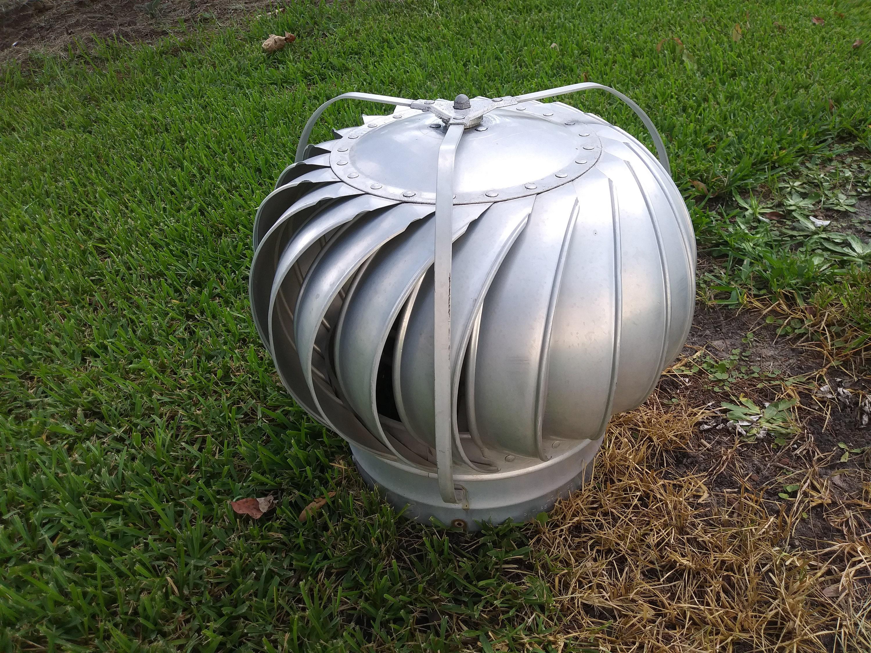 Vintage aluminum Barn Roof Wind Spinner Turbine Air Vent ...