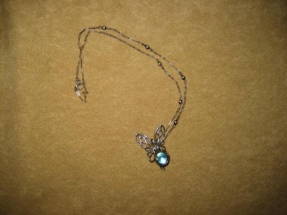 Aqua Aura Sterling Fairy Pendant Fairycore Neckla… - image 2