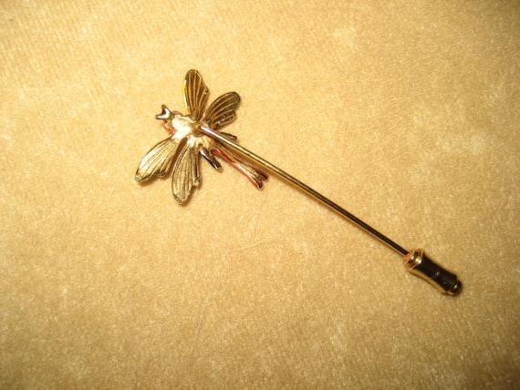 Enamel Dragonfly Stick Pin Fairycore Vintage - image 2