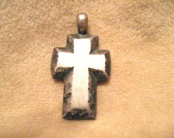 James Avery Cross Pendant - Retired - Solid - Textured - Rare Vintage