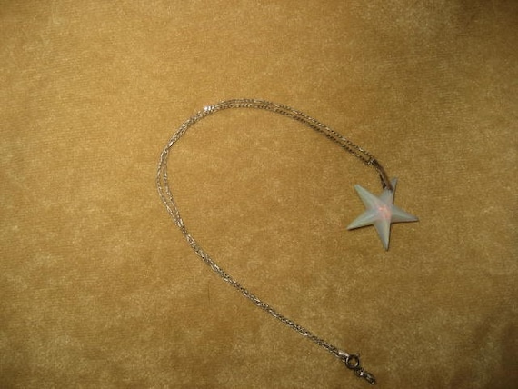 Opalite Star Swarovski Pendant Sterling Necklace … - image 3