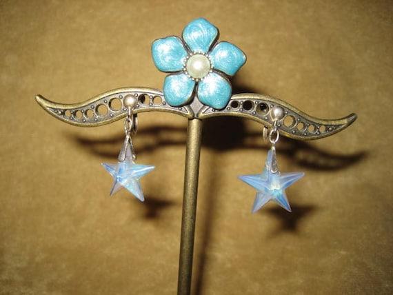 Opalite Star Swarovski Pendant Sterling Necklace … - image 6