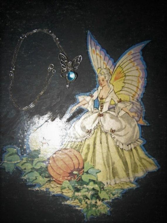 Aqua Aura Sterling Fairy Pendant Fairycore Neckla… - image 6