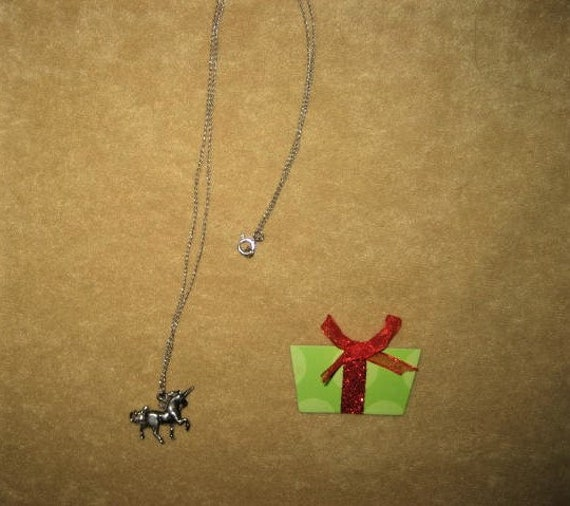60s Unicorn Sterling Pendant Fairycore Necklace - image 3
