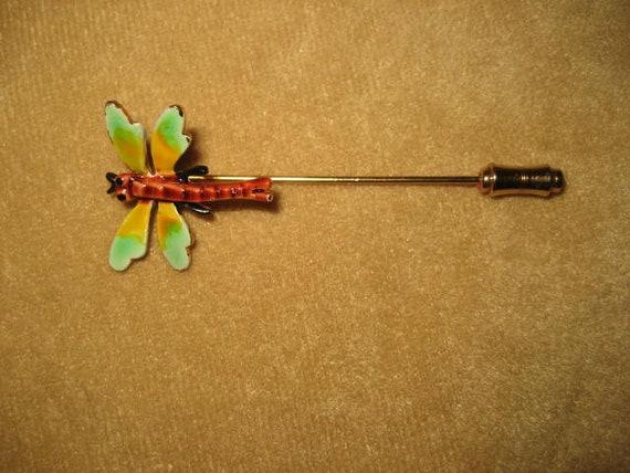 Enamel Dragonfly Stick Pin Fairycore Vintage - image 6