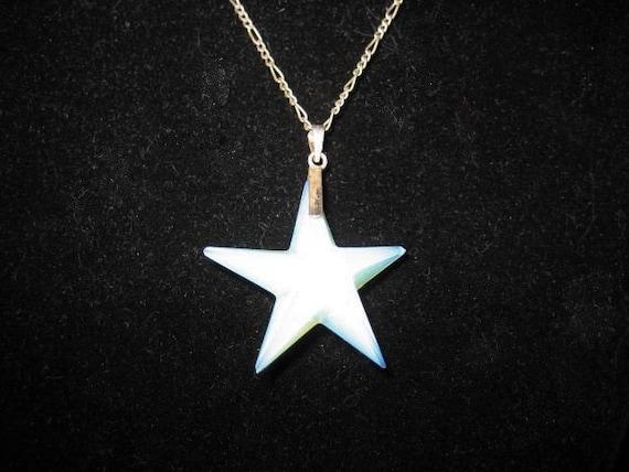 Opalite Star Swarovski Pendant Sterling Necklace … - image 4