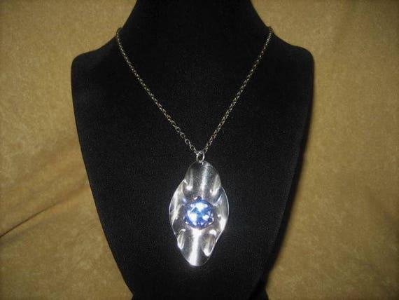 Cube Crystal Aurora Borealis Pendant Necklace Fai… - image 7