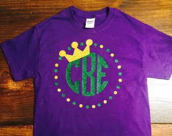 Personalized Monogram Mardi Gras Shirt