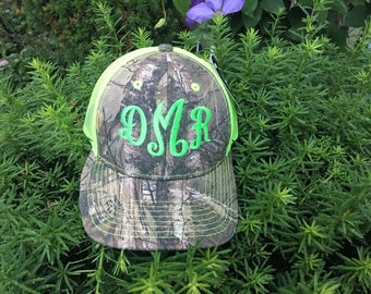 CAMO Real Tree Mossy Oak Monogrammed Personalized Hat
