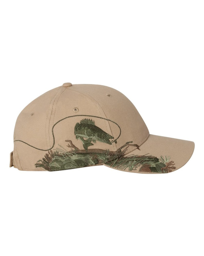 49f58090a15 Monogrammed Personalized Dri Duck Fishing Hunting Hat Walleye
