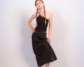 Vintage 90s Iridescent Slip Maxi Skirt size S/M