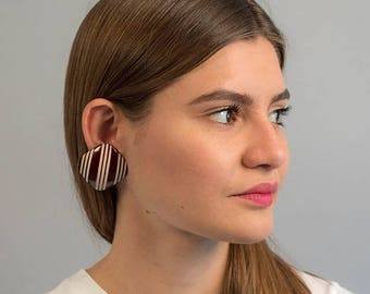 Bold Statement Earrings / Oversized Geometric Earrings / Square Earrings / Vintage 80s Earrings / Costume Jewelry / Fashion Earrin