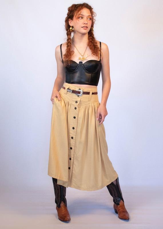 80s Full Western Skirt size S - image 4