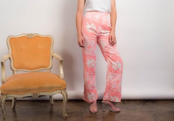 60s PAISLEY Pants. Vintage Wide-Leg Pants. 60s Pri