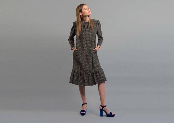 Silk Oversized Dress / Vintage Oversized Dress / 8