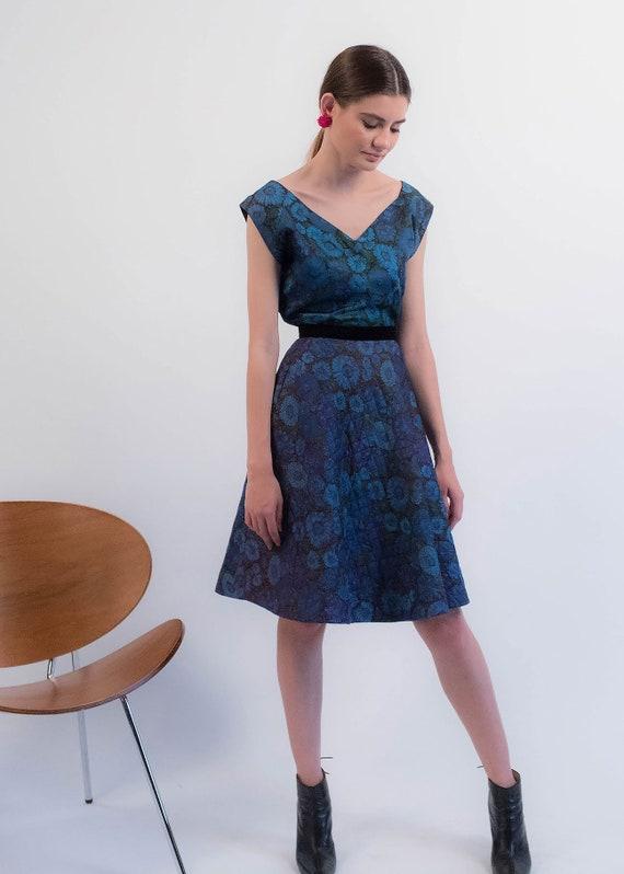 1950s Floral QUILTED Skirt. Vintage 50s Floral 2 … - image 7